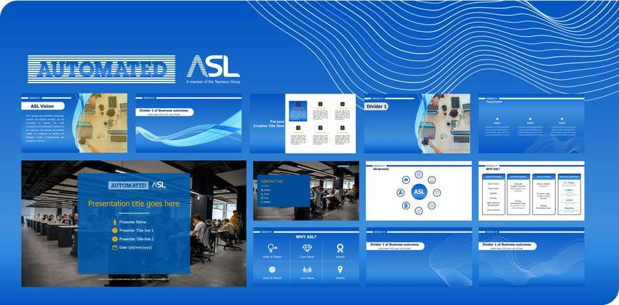 Bài tham dự cuộc thi #                                        24                                      cho                                         Corporate PPT Template Design (6 slides)