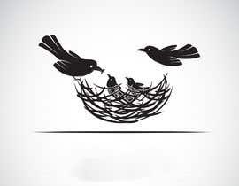 nº 16 pour Entwerfe eine stilisierte Vogelfamilie mit Babyvogel par apurbomoni