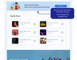 #96 cho Home Page redesign for Music Website bởi Dmamun18