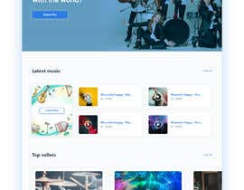 #112 cho Home Page redesign for Music Website bởi Dmamun18