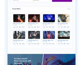 #120 cho Home Page redesign for Music Website bởi Dmamun18
