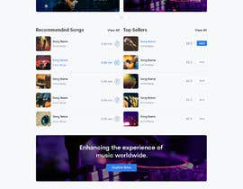 #110 cho Home Page redesign for Music Website bởi singhraju73756