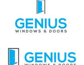 #99 untuk I need logo and business card design my company name genius windows & doors I need it in photoshop file that I will edit later I need some design that will be green and money savings with the genius idea or any new windows design oleh mishalpatwary121