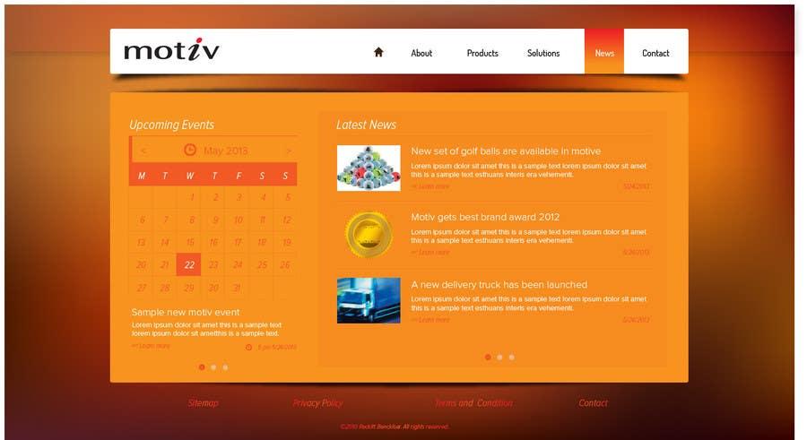 Kilpailutyö #20 kilpailussa Website Design scheme/home page for Motiv