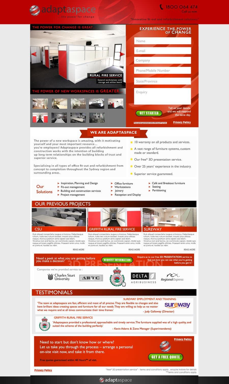 Konkurrenceindlæg #                                        31                                      for                                         Graphic Design for Landing Page