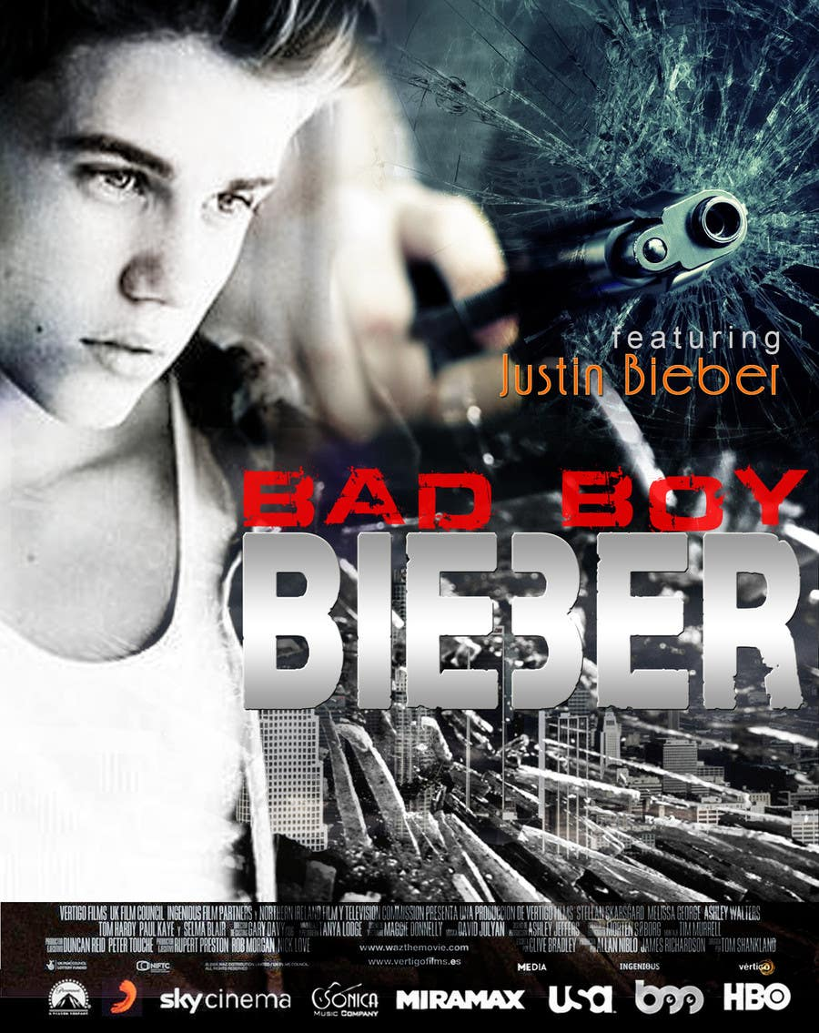 #89 for Design a poster for Gangster @JustinBieber, #BadBoyBieber! by xahe36vw