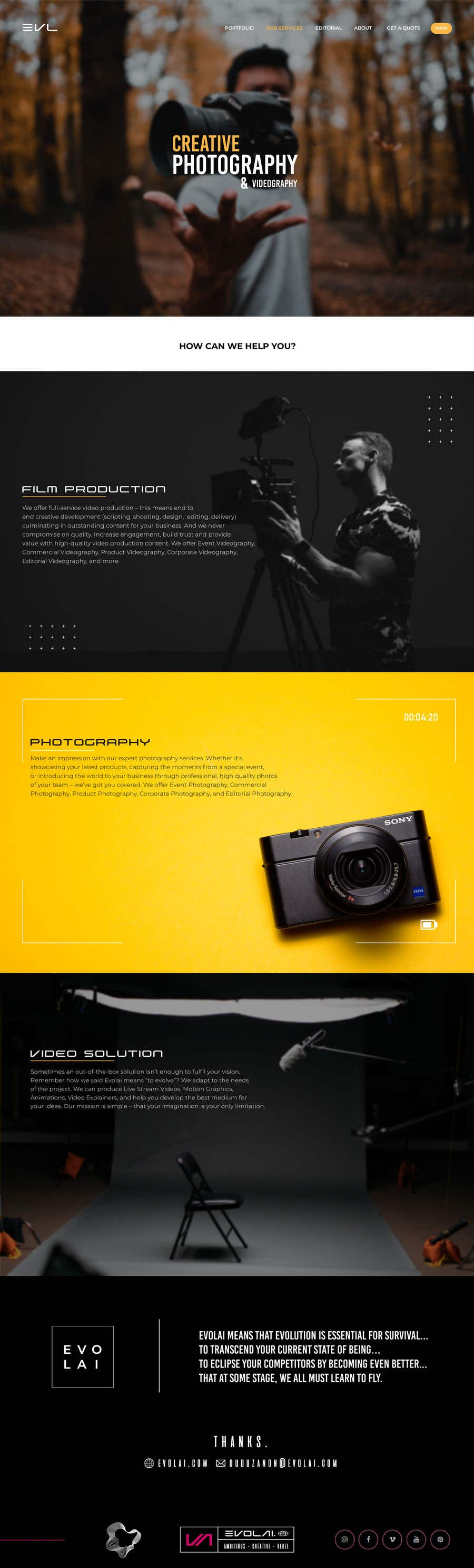 Contest Entry #                                        9                                      for                                         Web Page Design - redesign Services page for photography business