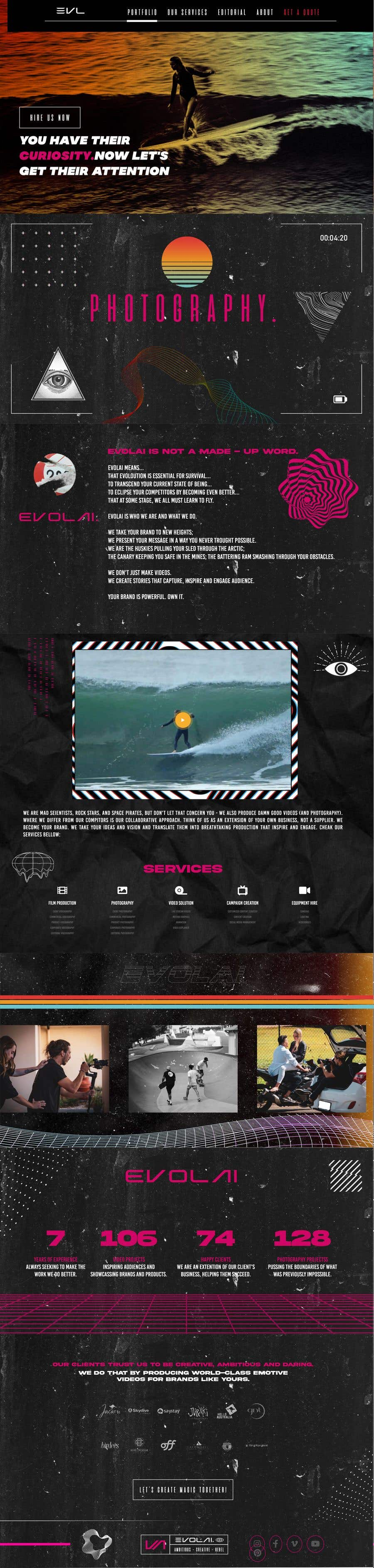 Contest Entry #                                        5                                      for                                         Web Page Design - redesign Services page for photography business
