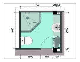 #6 for Design & Render 5 square meter bathroom. af mrhoangthanhtung