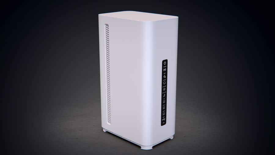 Kilpailutyö #                                        76                                      kilpailussa                                         3D Model of Smart Router