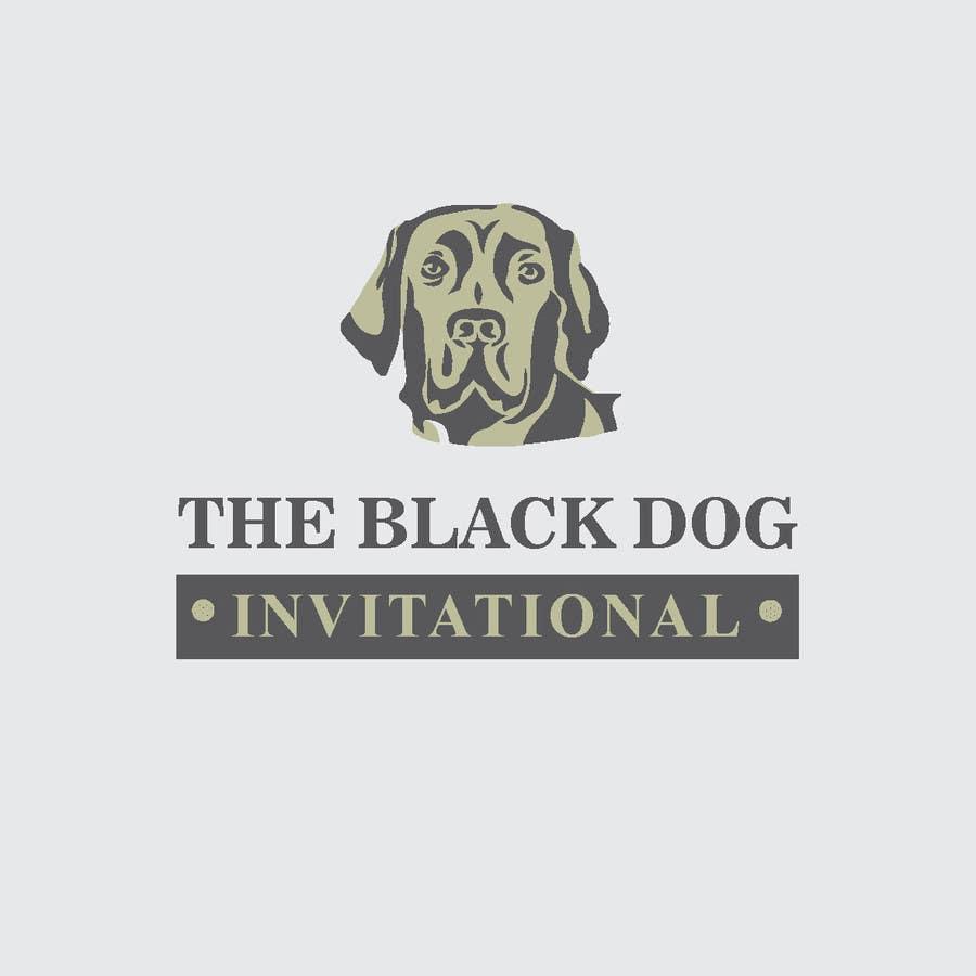 Kilpailutyö #37 kilpailussa Design a Logo for The Black Dog Invitational (golf tournament)