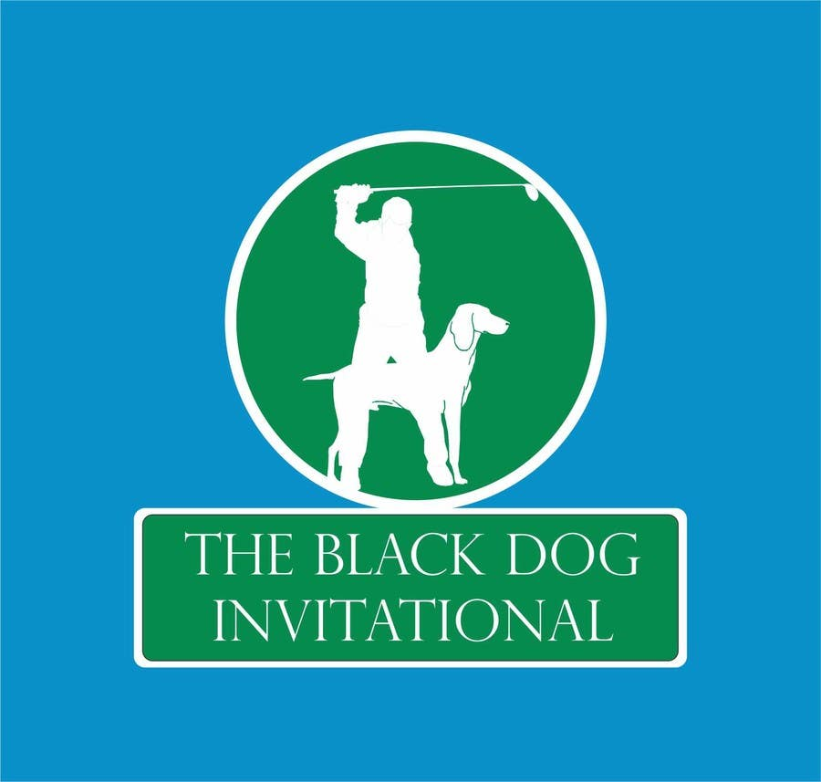 Kilpailutyö #32 kilpailussa Design a Logo for The Black Dog Invitational (golf tournament)