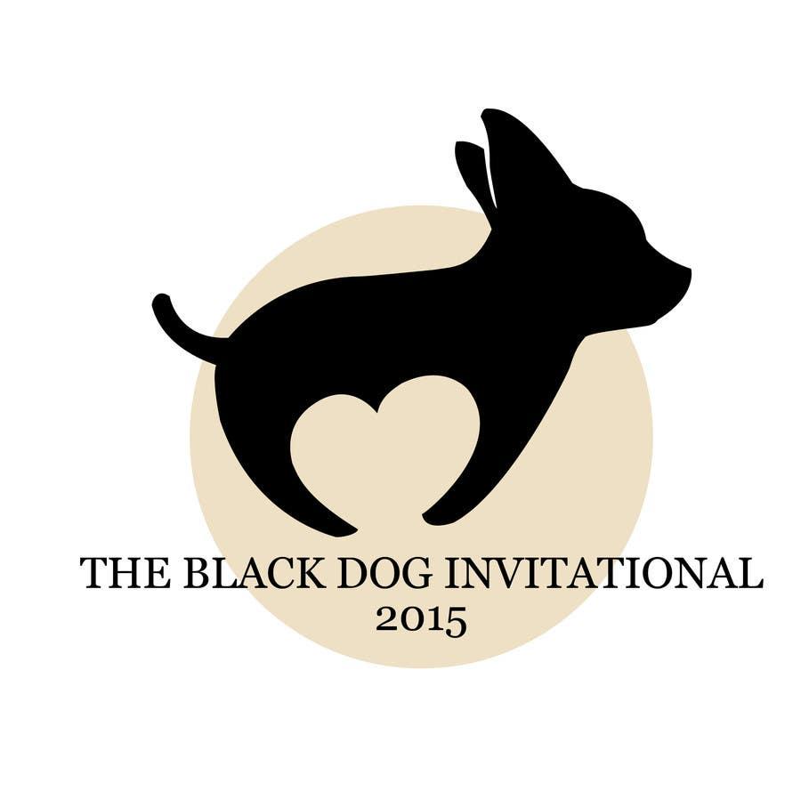 Kilpailutyö #1 kilpailussa Design a Logo for The Black Dog Invitational (golf tournament)