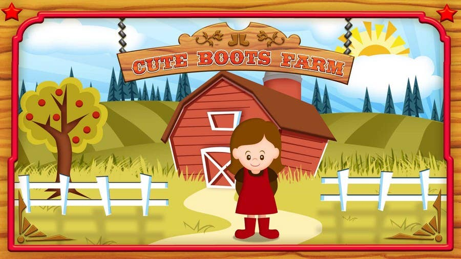 Contest Entry #1 for Illustration Design for Cute Boots Farms