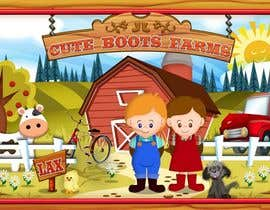 #10 para Illustration Design for Cute Boots Farms de richhwalsh