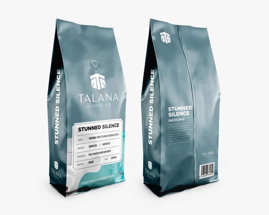 Kilpailutyö #                                        24                                      kilpailussa                                         Talana Coffee package label design