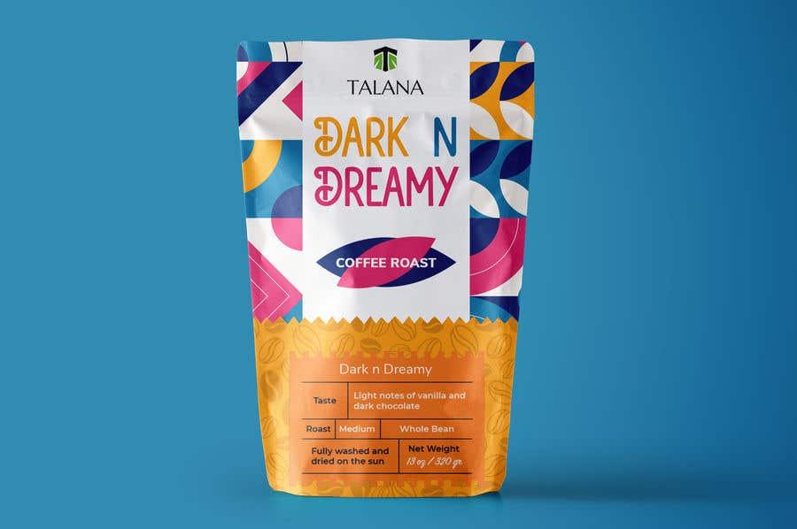 Kilpailutyö #                                        116                                      kilpailussa                                         Talana Coffee package label design