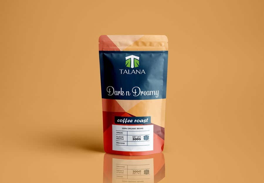 Kilpailutyö #                                        119                                      kilpailussa                                         Talana Coffee package label design