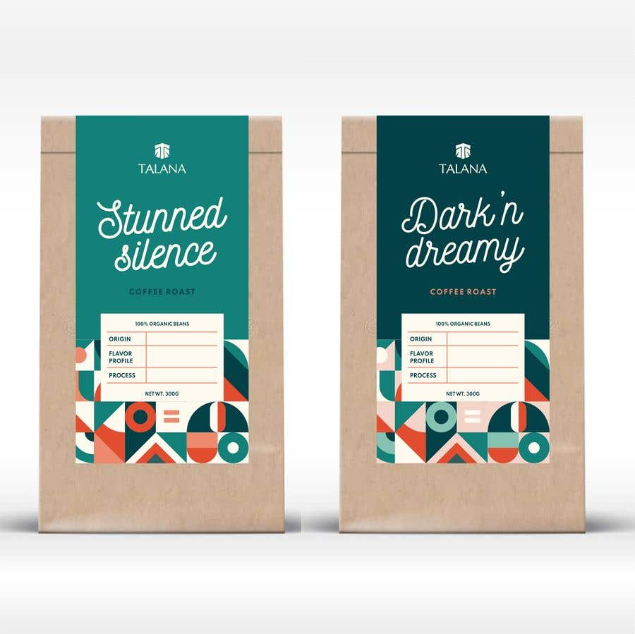 Kilpailutyö #                                        36                                      kilpailussa                                         Talana Coffee package label design