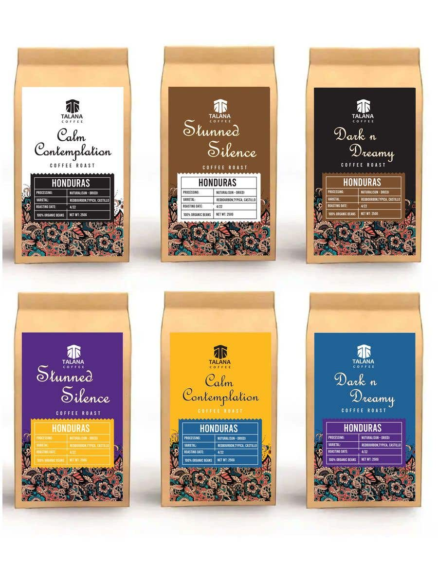 Kilpailutyö #                                        64                                      kilpailussa                                         Talana Coffee package label design