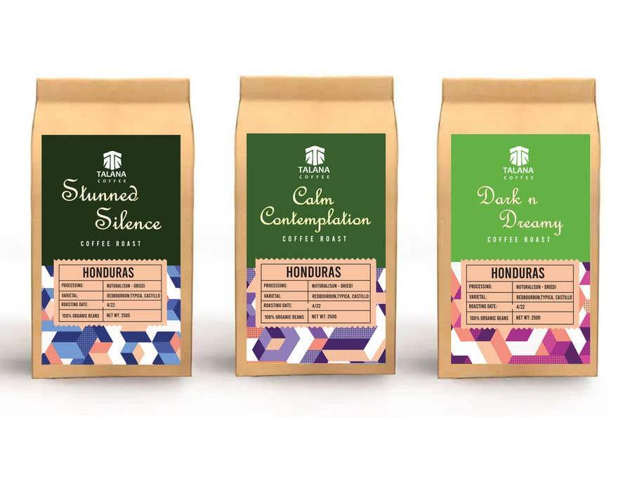 Kilpailutyö #                                        127                                      kilpailussa                                         Talana Coffee package label design