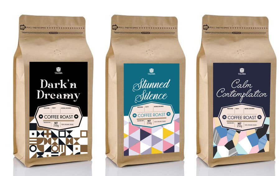 Kilpailutyö #                                        133                                      kilpailussa                                         Talana Coffee package label design