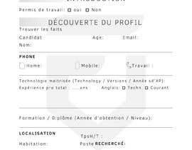 #14 untuk Créer une fiche sympa de renseignement interne oleh leonardogouveiac