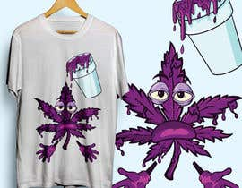 #19 for A logo for a t shirt. Weed leaf with eyes and mouth like it's a head and the hands at the bottom by QasimAs