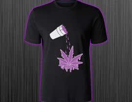 #42 for A logo for a t shirt. Weed leaf with eyes and mouth like it's a head and the hands at the bottom by azmiridesign
