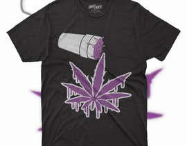 #25 for A logo for a t shirt. Weed leaf with eyes and mouth like it's a head and the hands at the bottom by rashedul1012