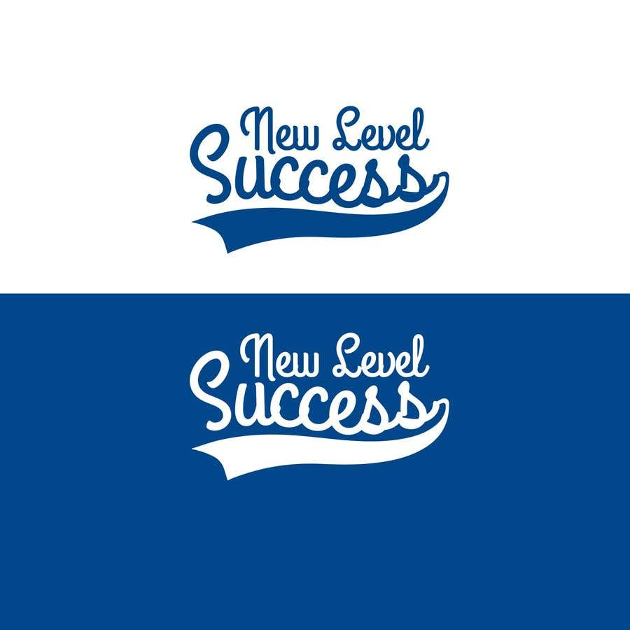 """Penyertaan Peraduan #                                        69                                      untuk                                         I need a logo designed. I want """"New Level Success"""" in the same style as the Dodgers logo that I will be attaching. - 05/04/2021 23:17 EDT"""