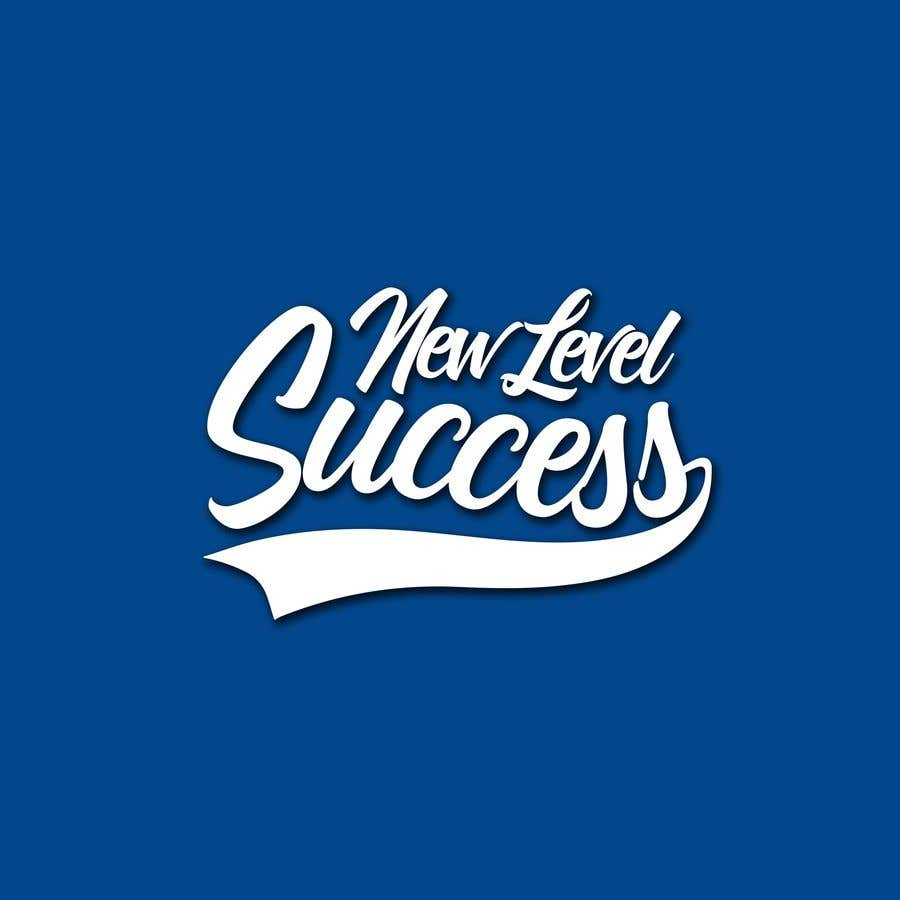"""Penyertaan Peraduan #                                        73                                      untuk                                         I need a logo designed. I want """"New Level Success"""" in the same style as the Dodgers logo that I will be attaching. - 05/04/2021 23:17 EDT"""