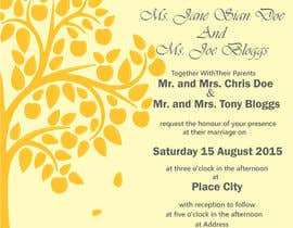 #32 untuk Design some Stationery for a Wedding oleh taranpreet74