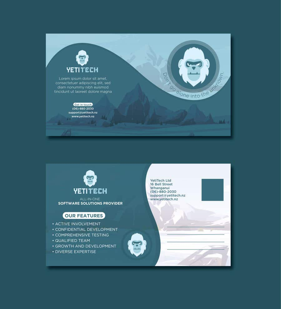 Konkurrenceindlæg #                                        18                                      for                                         EASY WORK: Design Marketing Post cards for Web Development company - 07/04/2021 22:29 EDT