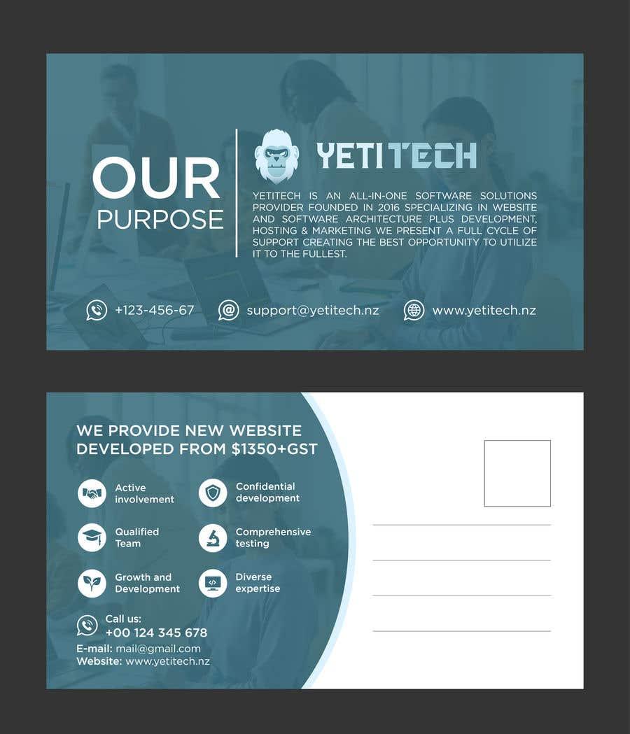 Konkurrenceindlæg #                                        49                                      for                                         EASY WORK: Design Marketing Post cards for Web Development company - 07/04/2021 22:29 EDT