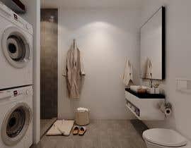 nº 29 pour 3D rendering kitchen, bathroom. par ialderino