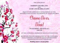 Design a wedding invitation card için Graphic Design22 No.lu Yarışma Girdisi