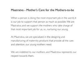 #8 pentru Brand Profile for my brand 'Maatratva' de către harsha442