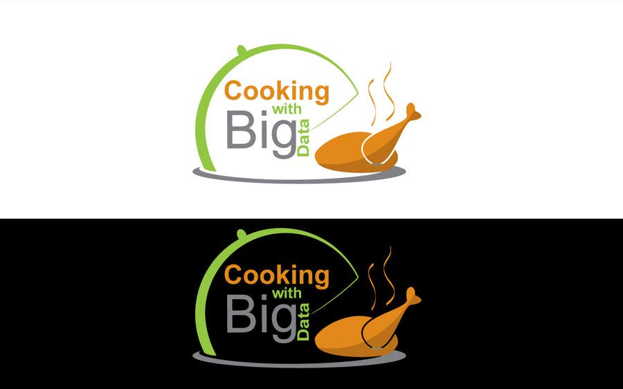 #89 for Design a new website logo - Cooking with Big Data by jeganr