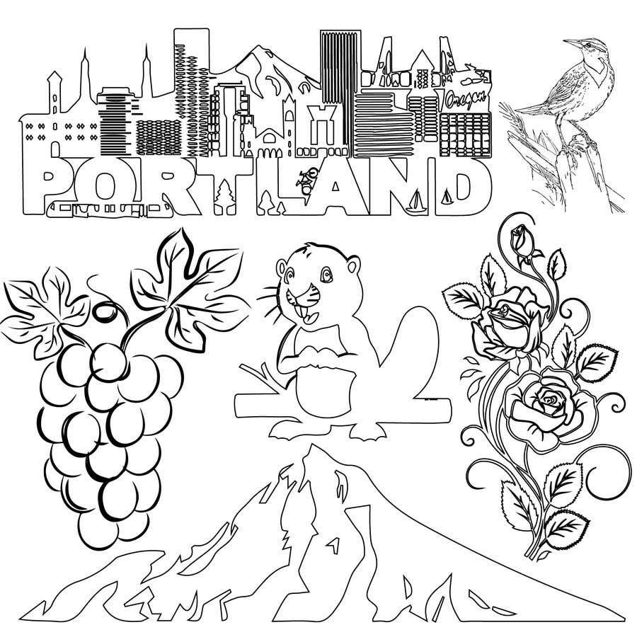 Penyertaan Peraduan #                                        53                                      untuk                                         Draw a coloring page for a Portland, Oregon restaurant