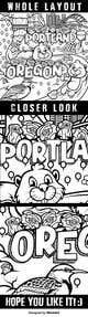 Imej kecil Penyertaan Peraduan #                                                51                                              untuk                                                 Draw a coloring page for a Portland, Oregon restaurant