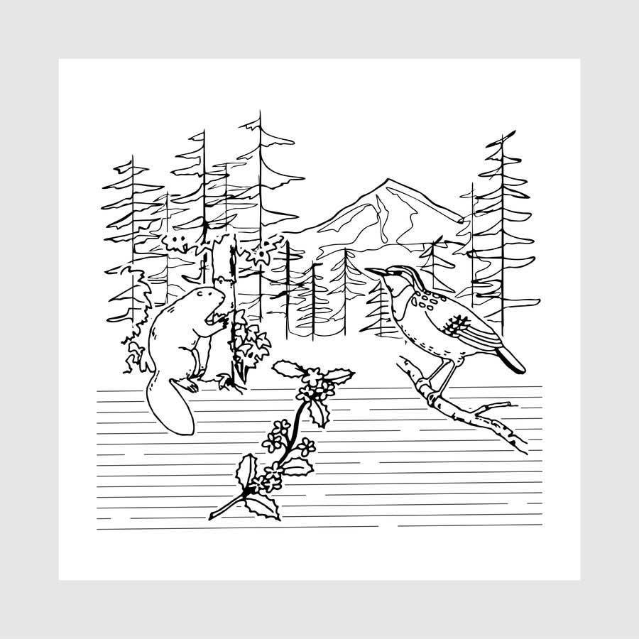 Penyertaan Peraduan #                                        5                                      untuk                                         Draw a coloring page for a Portland, Oregon restaurant
