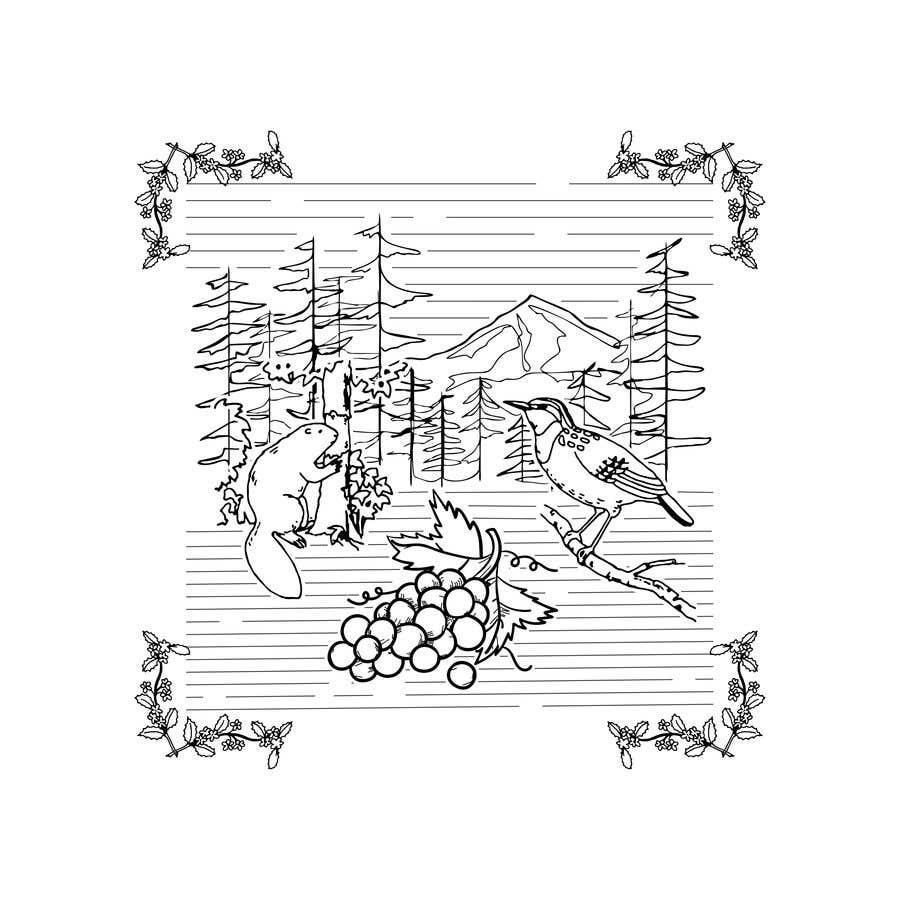 Penyertaan Peraduan #                                        8                                      untuk                                         Draw a coloring page for a Portland, Oregon restaurant