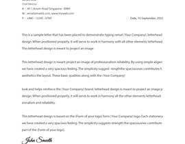 #86 pentru I need to design my compny letterhead de către hridoy552