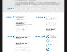 #75 for A inventive Resume template by prefetchhabib