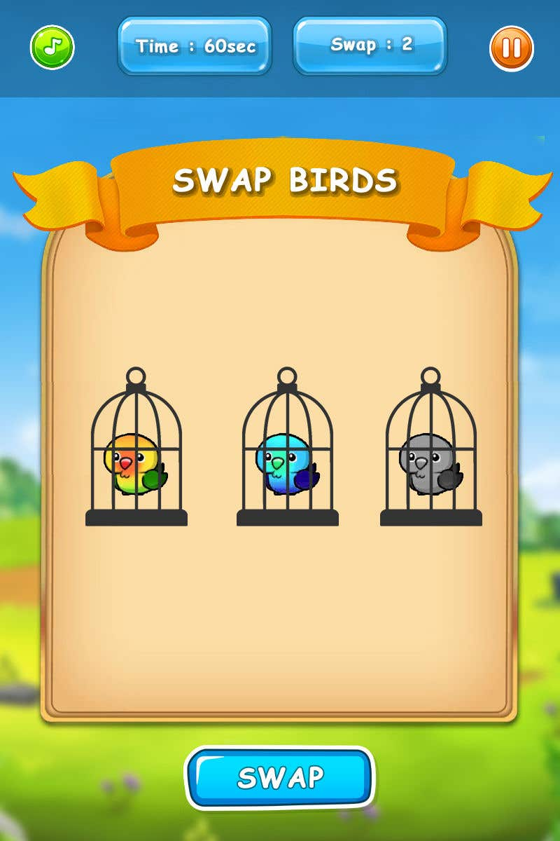 Konkurrenceindlæg #                                        1                                      for                                         Create a Unity 2D game with birds that swap positions