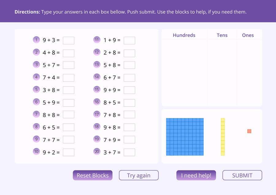 Kilpailutyö #                                        21                                      kilpailussa                                         Contest - Redesign 1 page Math Sheet