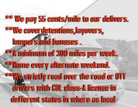 #38 for Poster for Hiring CDL class-A Truck drivers for Liberty truck lines af wwwyeasin5555