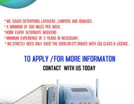 #48 for Poster for Hiring CDL class-A Truck drivers for Liberty truck lines af wwwyeasin5555