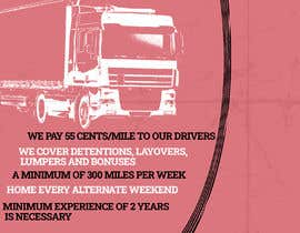 #42 for Poster for Hiring CDL class-A Truck drivers for Liberty truck lines af Yeexus